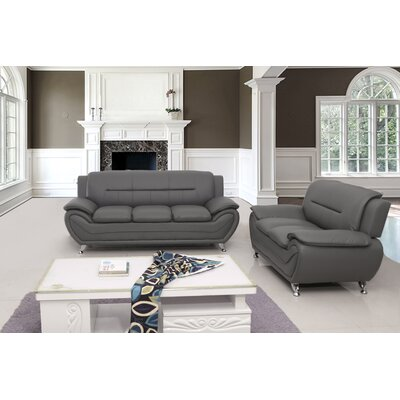 Segura 2 Piece Living Room Set Upholstery : Grey
