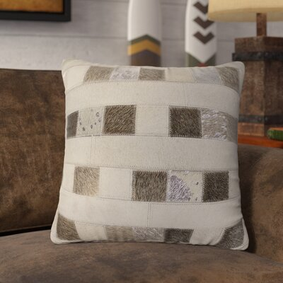 Lingo Leather Throw Pillow