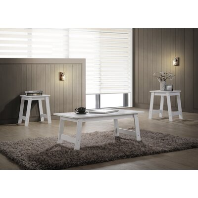 Halethorpe 3 Piece Coffee Table Set Color: White