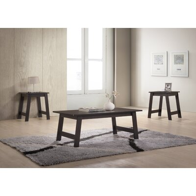 Halethorpe 3 Piece Coffee Table Set Color: Espresso