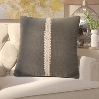 Kinchen Throw Pillow Color: Charcoal, Size: 24 x 24