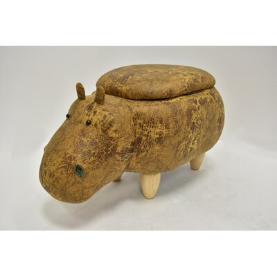 Eure Hippo Animal Storage Ottoman Upholstery: Yellow