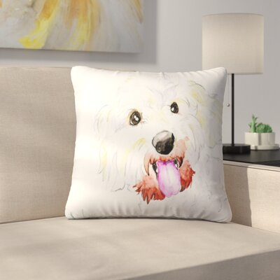 Miniature Poodle Mix Throw Pillow Size: 14 x 14