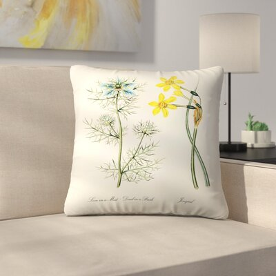 Jonquil Throw Pillow Size: 16 x 16