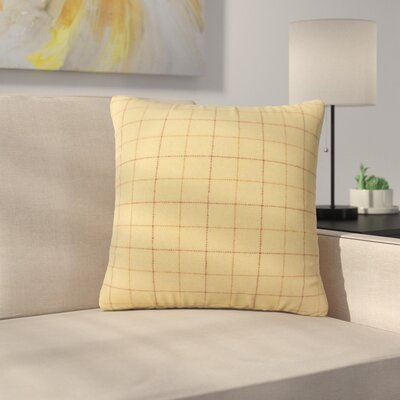 Baltimore Plaid Down Filled Throw Pillow Size: 18 x 18, Color: Tan