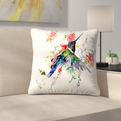 Hummingbird 1 Throw Pillow Size: 16 x 16
