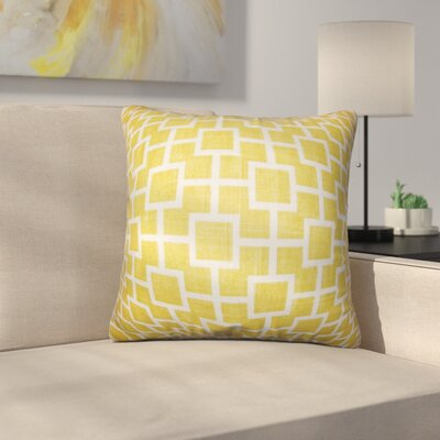 Leaston Rezendes Geometric Cotton Throw Pillow Color: Yellow