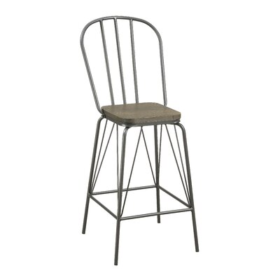 Hardnett 26 Bar Stool Color: Gray