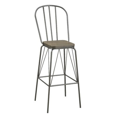 Hardnett 30 Bar Stool Color: Gray