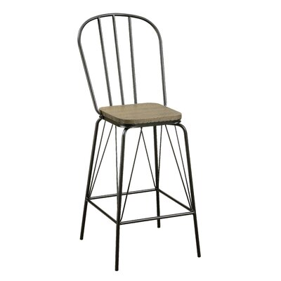 Hardnett 26 Bar Stool Color: Black