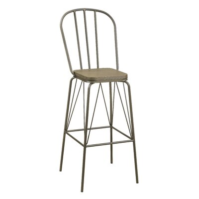 Hardnett 30 Bar Stool Color: Bronze