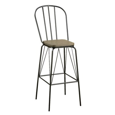 Hardnett 30 Bar Stool Color: Black