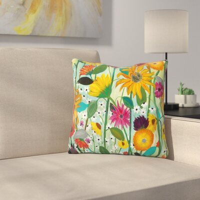 Schambach Sunflower House Throw Pillow