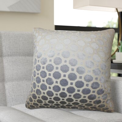 Richart Geometric Cotton Throw Pillow Color: Gray