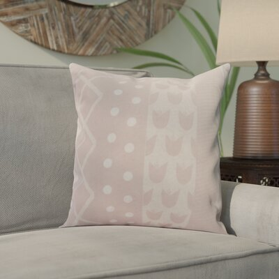 Castleman Decorative Throw Pillow Color: Pale Pink, Size: 18 x 18