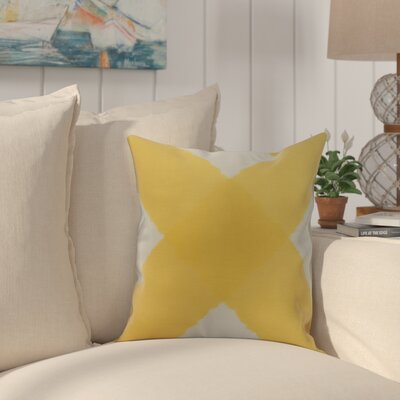 Crider X Marks the Spot Geometric Print Indoor/Outdoor Throw Pillow Color: Yellow, Size: 20 x 20