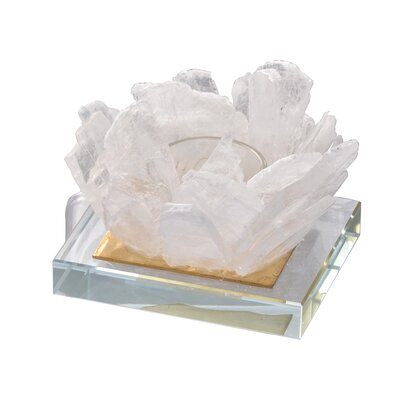 Selenite Candle Glass Votive Holder 724059DEDA744F0EBD1E50C31E9042F5