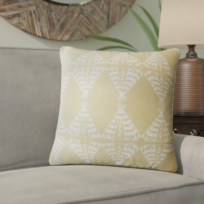 Vail Geometric Down Filled 100% Cotton Throw Pillow Size: 18 x 18, Color: Camel