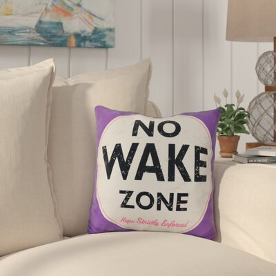 Nap Zone Outdoor Throw Pillow Color: Purple