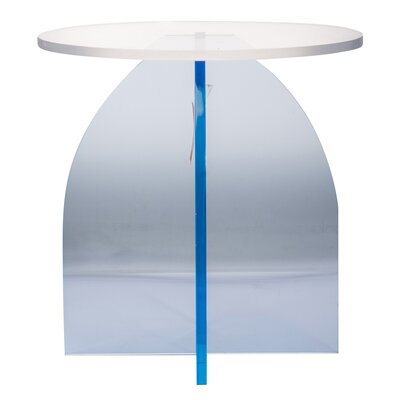 Longo End Table Color: Blue