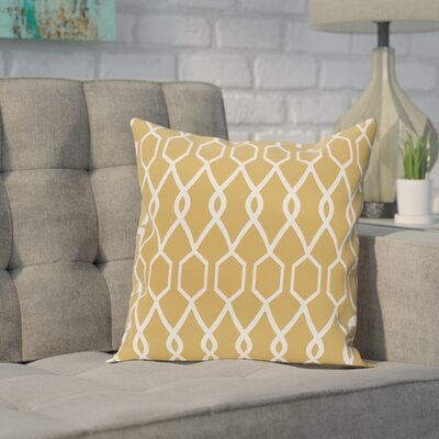 Bronstein Geometric Print Throw Pillow Size: 16 H x 16 W x 1 D, Color: Dijon