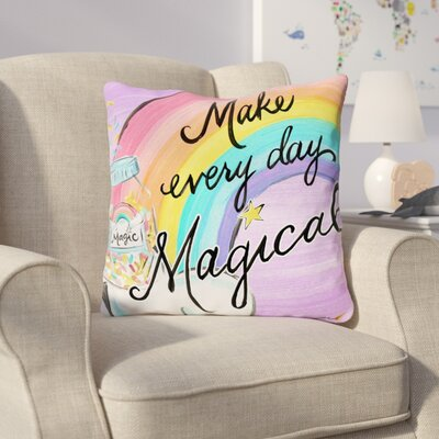 Howerton Magical Day Throw Pillow Size: 16 x 16