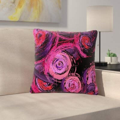 Alison Coxon Sophia Outdoor Throw Pillow Color: Pink/Black, Size: 16 H x 16 W x 5 D