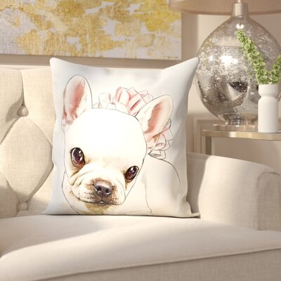 Floyd Watercolor Frenchie Throw Pillow