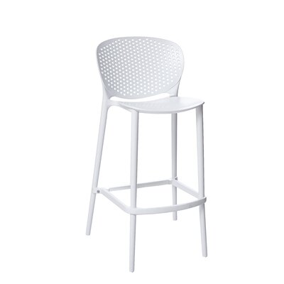 Londono Stackable Bar Stool Size: 35 H x 20 W x 21 D