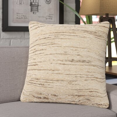 Eberardo Textured Silk Throw Pillow Fill Material: Down/Feather