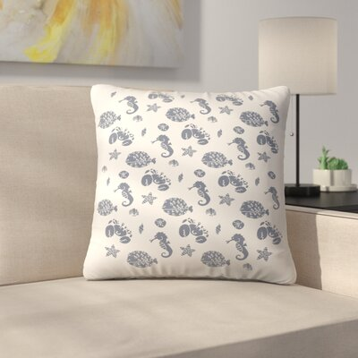 By The Sea Throw Pillow Size: 18 x 18
