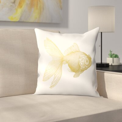 Goldy The gold Fish Throw Pillow Size: 16 x 16