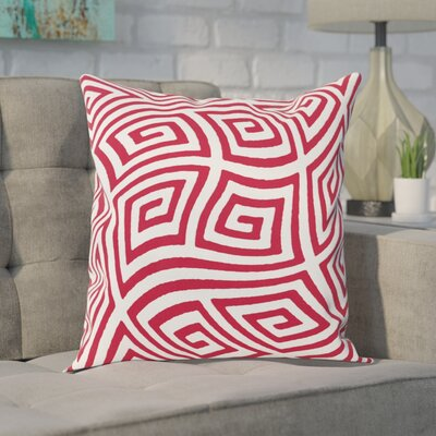 Adorno Throw Pillow Size: 16 H x 16 W, Color: Red