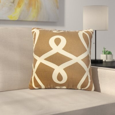 Rudisill Geometric Cotton Throw Pillow Color: Brown