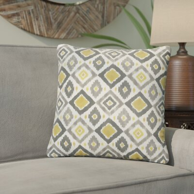Socoma Outdoor Throw Pillow Size: 20 H x 20 W, Color: Gold / Grey