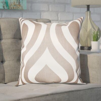 Brock 100% Cotton Throw Pillow Color: Brown, Size: 18 H x 18 W