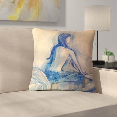 Theresa Giolzetti Mer-Maid? Huh... Outdoor Throw Pillow Size: 18 H x 18 W x 5 D