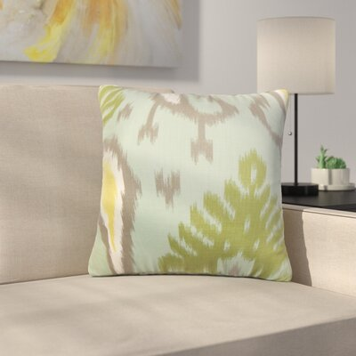 Shekhar Printers Row Ikat Cotton Throw Pillow Color: Aquamarine