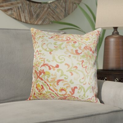 Calandre Floral Throw Pillow Color: Rose Green, Size: 18 x 18
