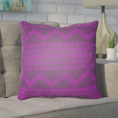 Adamson Geometric Throw Pillow Size: 20 H x 20 W x 3.5 D, Color: Magenta