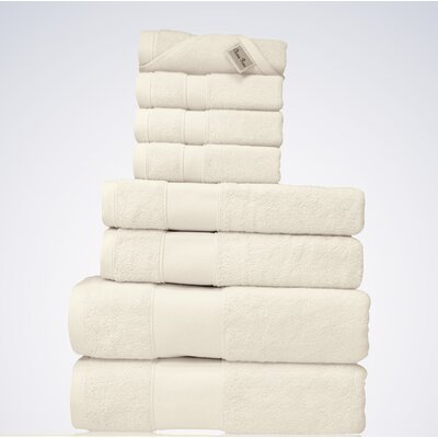 Lint Free Bulk Turkish 8 Piece Towel Set Color: Beige