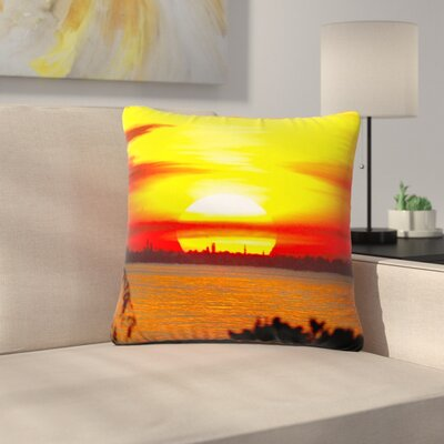 Philip Brown Sunrise on Sanibel Outdoor Throw Pillow Size: 18 H x 18 W x 5 D