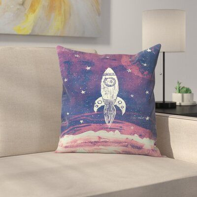 Space Adventure Throw Pillow Size: 20 x 20
