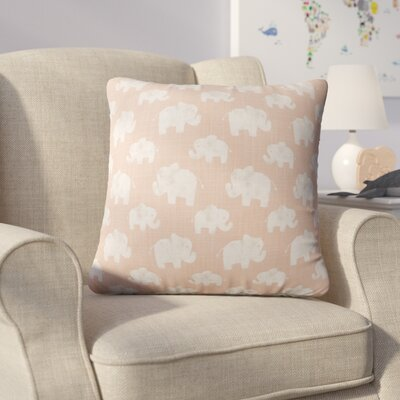 Westminster Elephant Linen Throw Pillow Color: Pink