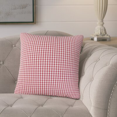Bergmann Plaid Cotton Throw Pillow Color: Red