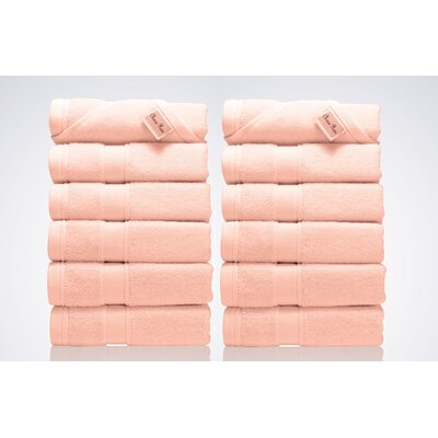 Lint Free Turkish Washcloth Color: Pink