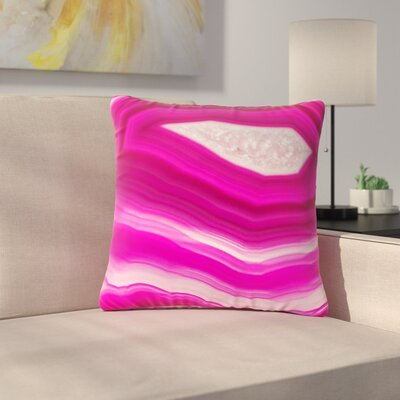 Cafelab Bold Agate Outdoor Throw Pillow Size: 18 H x 18 W x 5 D