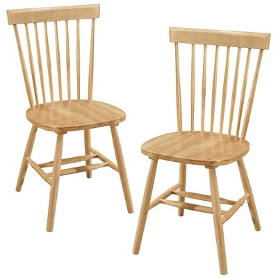 Bristol Solid Wood Dining Chair Color: Natural