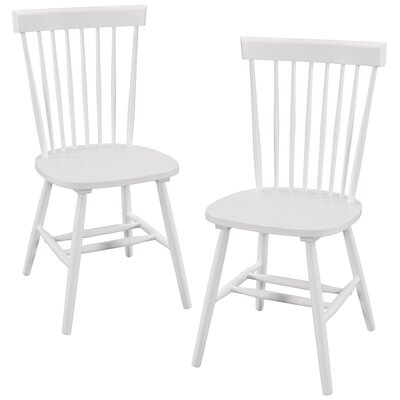 Bristol Solid Wood Dining Chair Color: White