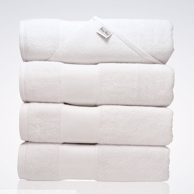 Lint Free Turkish Shower Bath Towel Color: White